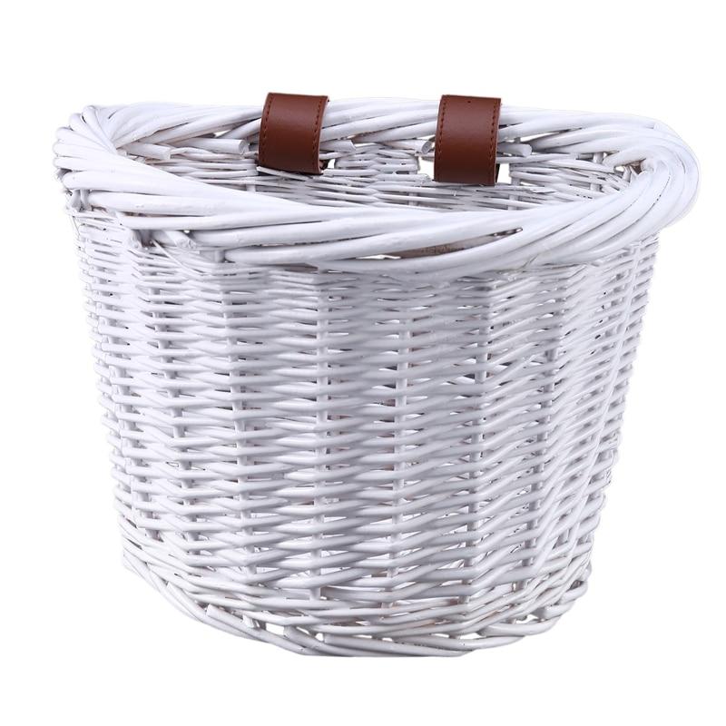 Ретро передняя корзина для велосипеда плетеная корзина для хранения велосипеда ручная работа натуральная в виде велосипеда из ротанга кор...