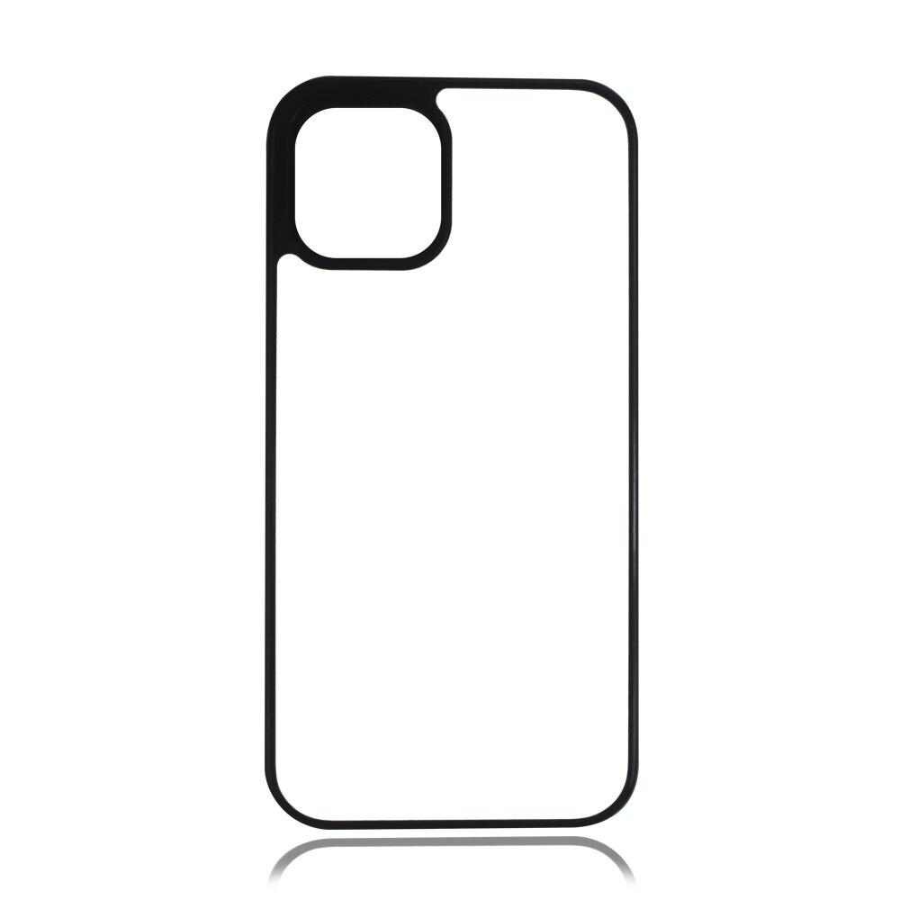 MANNIYA فارغة التسامي المطاط حافظة هاتف من البولي يوريثان ل آيفون 12 mini 12 pro 12 pro max مع إدراج الألومنيوم 100 قطعة/الوحدة