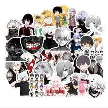 10/30/50pcs Japan Anime Tokyo Ghoul Sticker Graffiti for Luggage Laptop Skateboard Bicycle Decal Stickers Children Gift