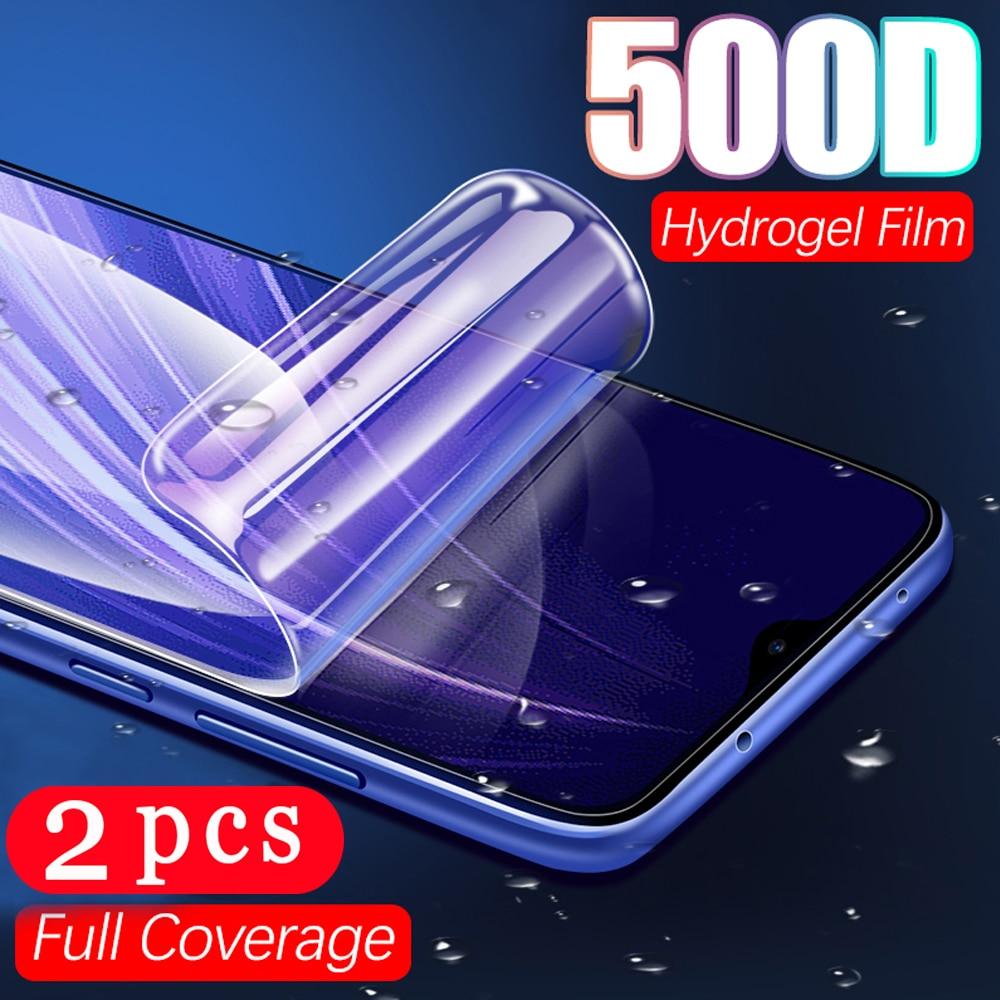 2 uds película suave de hidrogel de cubierta completa para xiaomi redmi 10X note 9s 9 pro MAX 9C 9A 8 8A 8T 7 pro protector de pantalla del teléfono no de vidrio