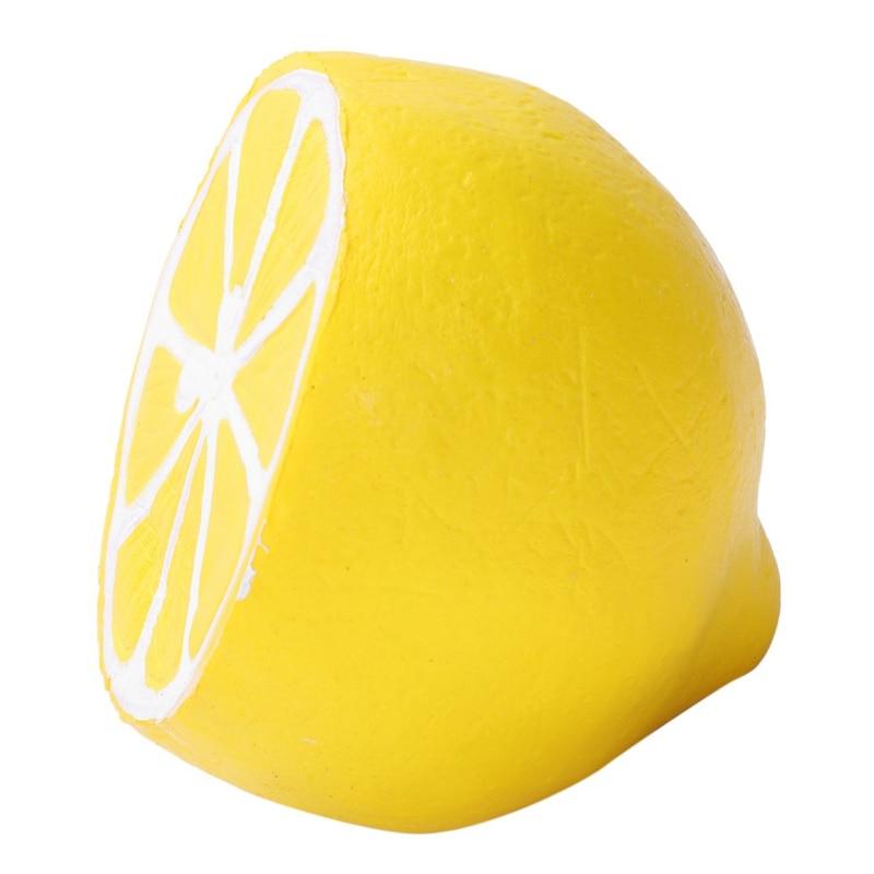 Lindo medio limón blando lento aumento teléfono móvil Correa pan Anti estrés bola perfumada llave colgante juguetes para niños de simulación comida