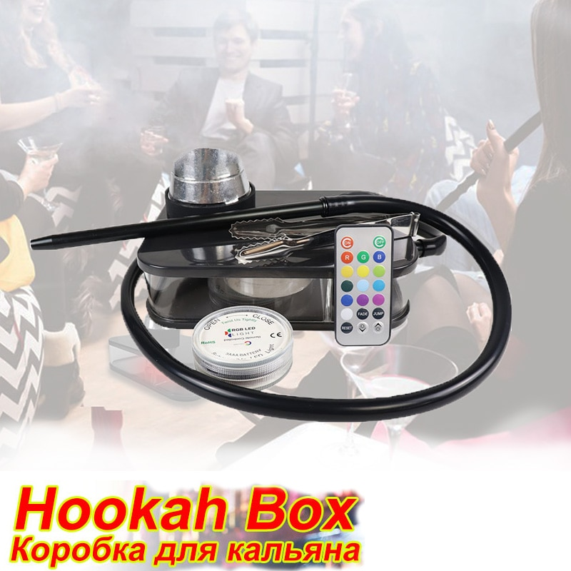 Smoking Hookah Shisha With LED Light Nargile Cachimba Water Pipe Chicha Hookah Kit Accessories For S