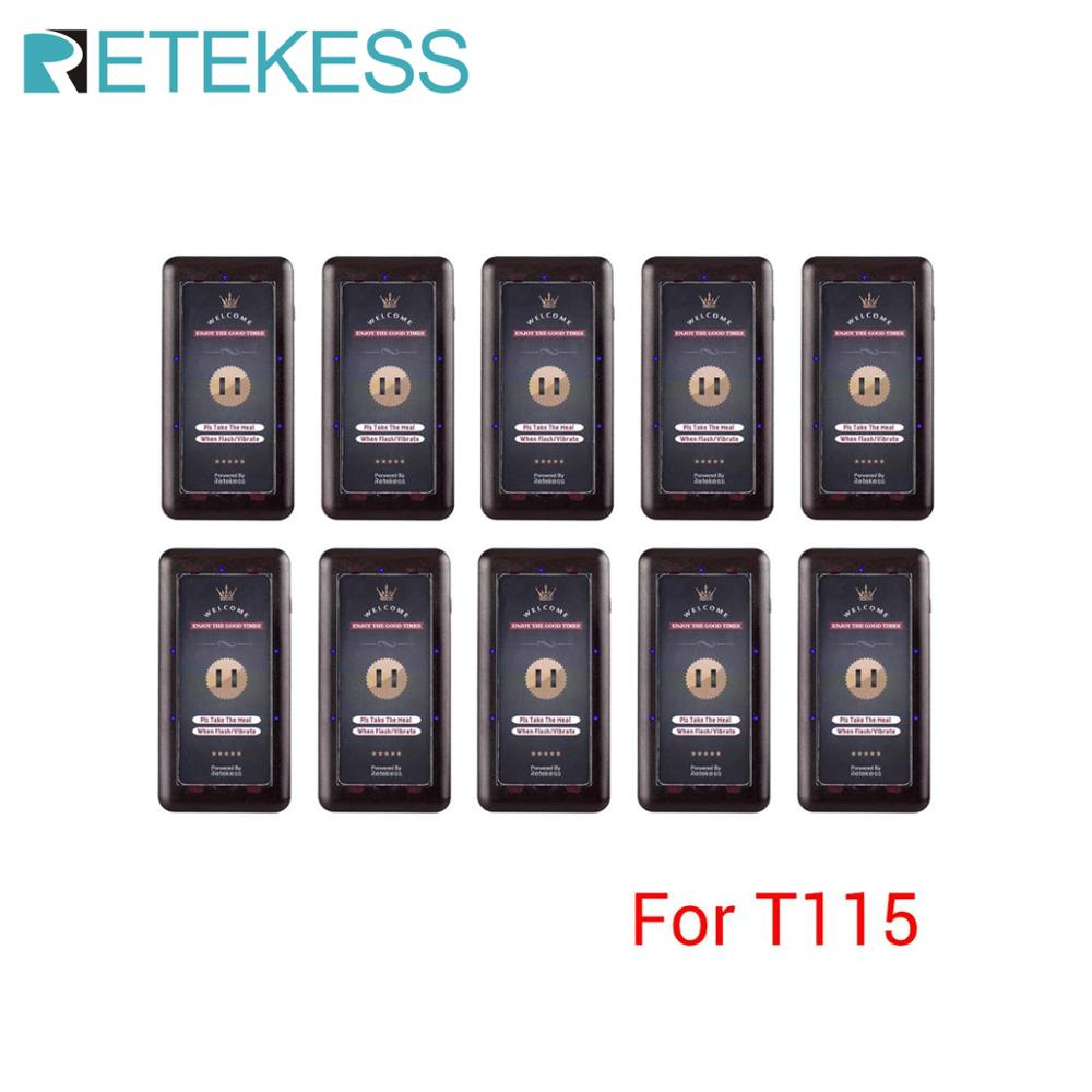 10Pcs Pager Receivers For Retekess T115 Restaurant Pager Wireless Calling System For Restaurant Coffee Shop Church Clinic