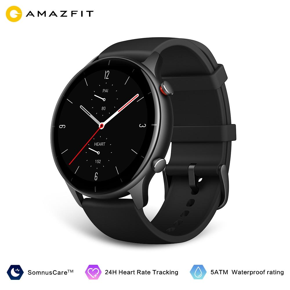 2021 جديد Amazfit GTR 2e Smartwatch الإصدار العالمي 1.39 ''AMOLED النوم جودة رصد معدل ضربات القلب 5 ATM مقاوم للماء ل Andriod