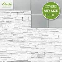 funlife%c2%ae white stone brick tile wall sticker wallpaper decorative self adhesive easy to clean bathroom kitchen backsplash floor