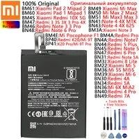 original battery for xiaomi redmi note 3 3s 3x 4 4a 4x 5 5a 5s plus 6x 6 pro 7 7a 8 10x k20 pro lite 9t pro lite batteries