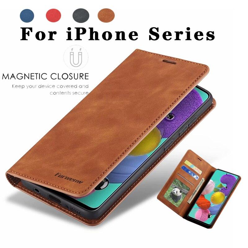 For Apple iPhone XS SE 2020 11 Pro Max X XS XR 5S 6 6S 7 8 Plus Luxury Leather Flip Wallet Case 6SPlus 7Plus Magnet Cover Funda