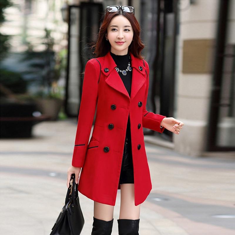Женское шерстяное пальто, зимние куртки для женщин, одежда 2021, зимние двубортные длинные тренчи, Женские однотонные пальто оверсайз