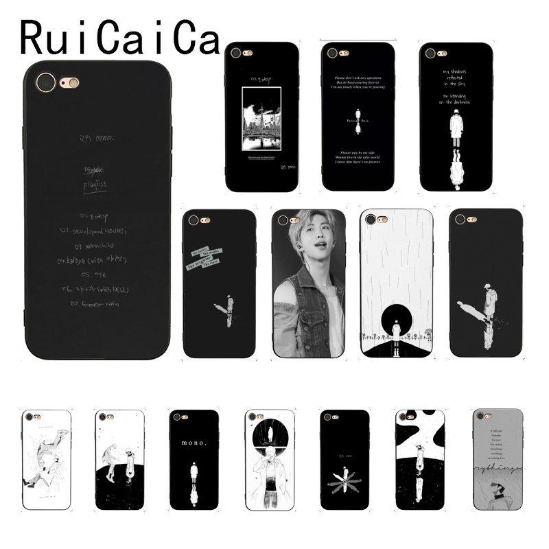 Ruicaica KPOP RM Mono 2018 Мягкий Силиконовый ТПУ чехол для телефона iPhone 8 7 6S 6Plus X XS MAX 5 5S SE XR чехол