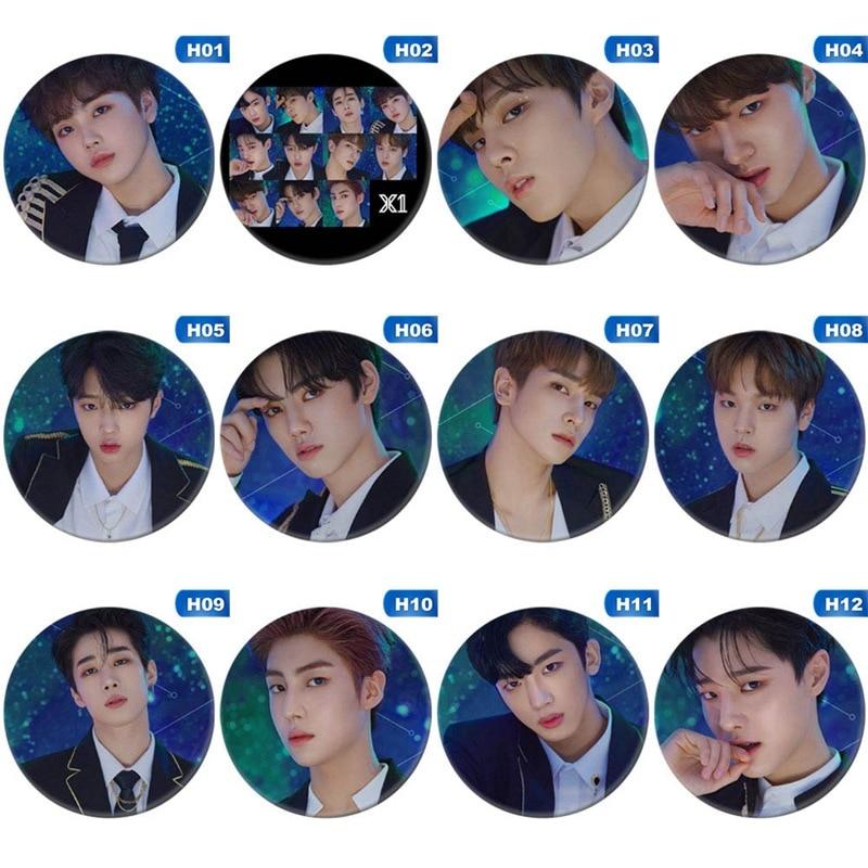 1 piezas Kpop Bangtan Boys álbum broche Pin insignia accesorios para ropa sombrero mochila decoración broche personalizable alfileres personalizados