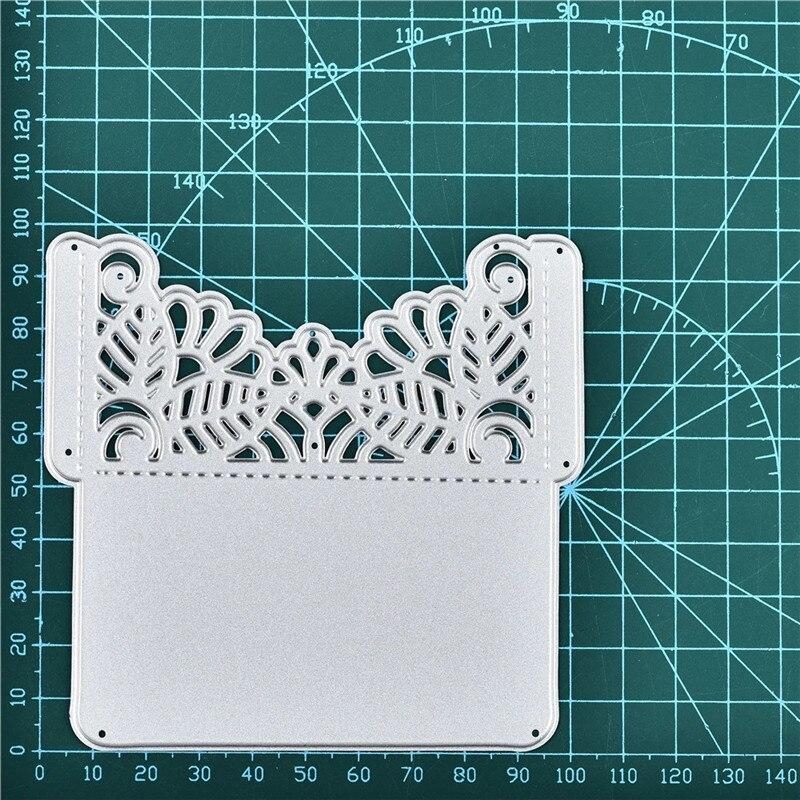 YaMinSanNiO sobre de Metal de acero troqueles Marco de encaje plantilla abierta para bricolaje álbum de recortes papel/tarjetas de fotos en relieve troqueles 2019