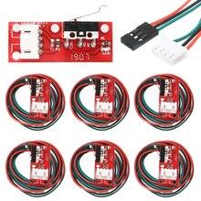 6 pièces/paquet butée finale mécaniques interrupteurs de fin de course butée finale + 3 broches 70cm câble pour imprimante 3D pièces rampes 1.4 panneau de commande pièce commutateur