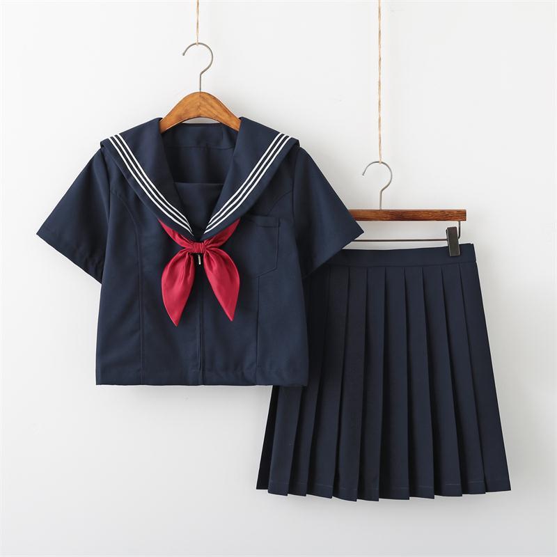Neue Design Schuluniform Lange Rock Sailor Top-Sets College High School Mädchen Cosplay Partei Sailor Uniformen