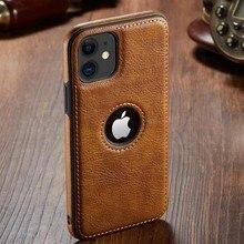 Yxayn luxo negócio costura de couro caso capa para iphone xs max xr x 8 7 plus 11 pro ma caso