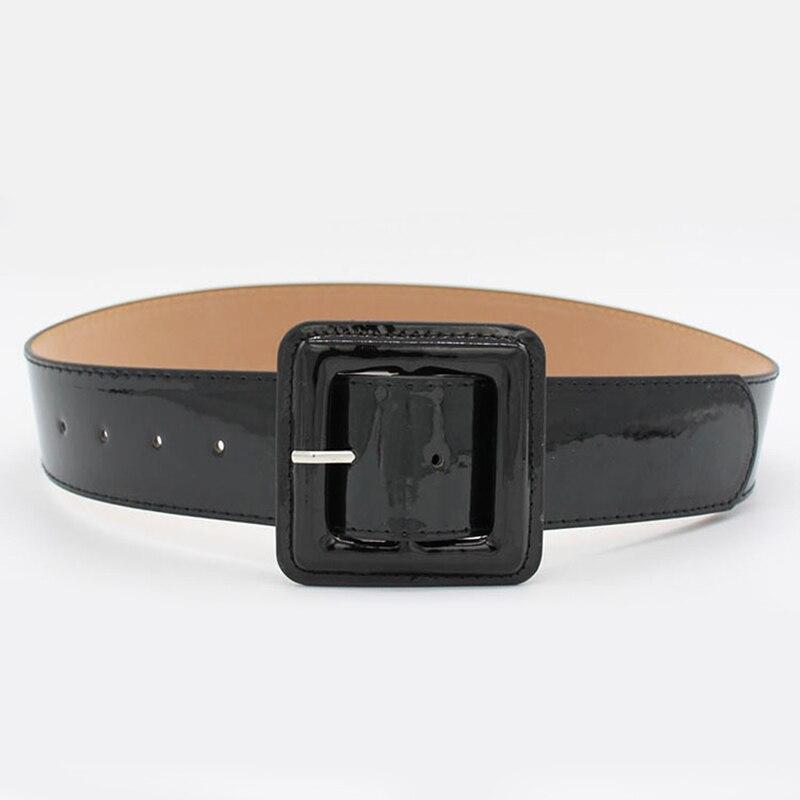 Gran oferta de cinturones de PU a la moda, cinturón ancho Punk de lujo dorado y negro con hebilla, cinturón para vestido de mujer