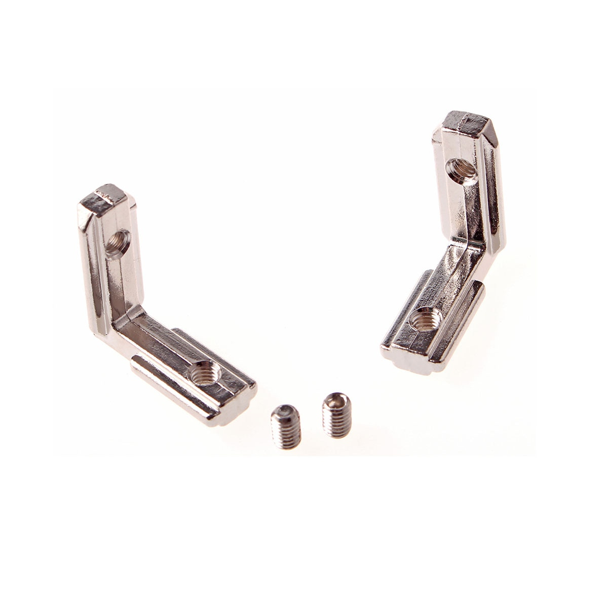 20 Series T Slot L Type 2020 Aluminum Profile Interior Inner Corner Connector Joint Bracket 90 Degree EU Standard with M4 Screws