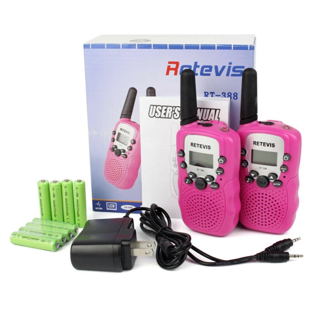 RT388 Handy Kids Walkie Talkie 2 uds Mini Radio bidireccional PMR FRS linterna navidad regalo juguete Walkie Talkie para niños