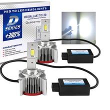 2 шт. автомобильный светильник D1S D4S D2S светодиодный Canbus головной светильник D3S D1R D2R D3R D4R D5S D8S лампа 70 Вт 32000LM комплект для замены HID лампы