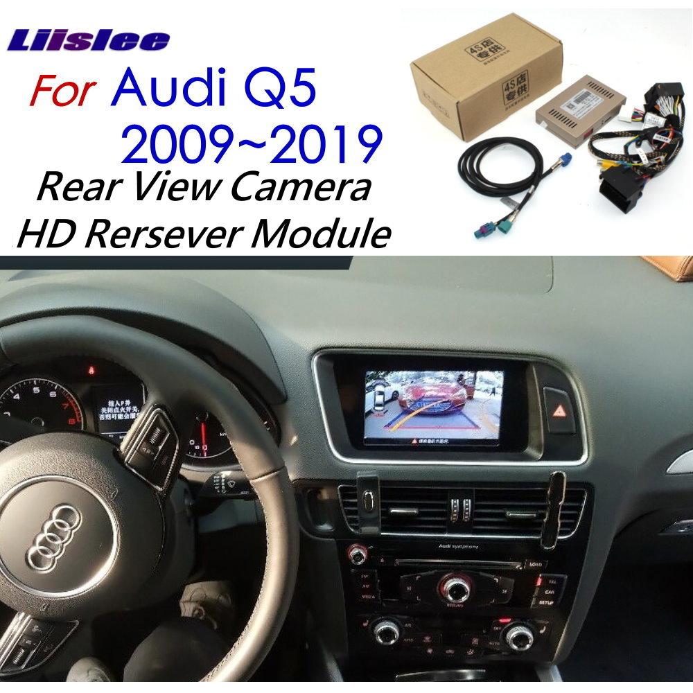 Cámara de visión delantera y trasera para Audi Q5 2009 ~ 2019 adaptador de interfaz pantalla Original pantalla de actualización decodificador de cámara de respaldo
