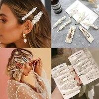 2021 hair barrettes for women hair clips korea simulated pearl beaded hairgrips hair pins girls jewelry fashion hair accessories