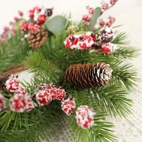 50cm christmas decoration wreath red fruit eucalyptus wreath christmas rattan wreath christmas holiday decoration