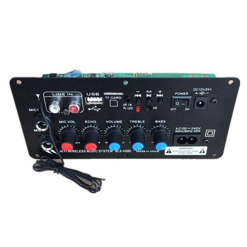 Amplificador ESTÉREO Digital con Bluetooth, Subwoofer, micrófono Dual, PARA Karaoke, altavoz de...