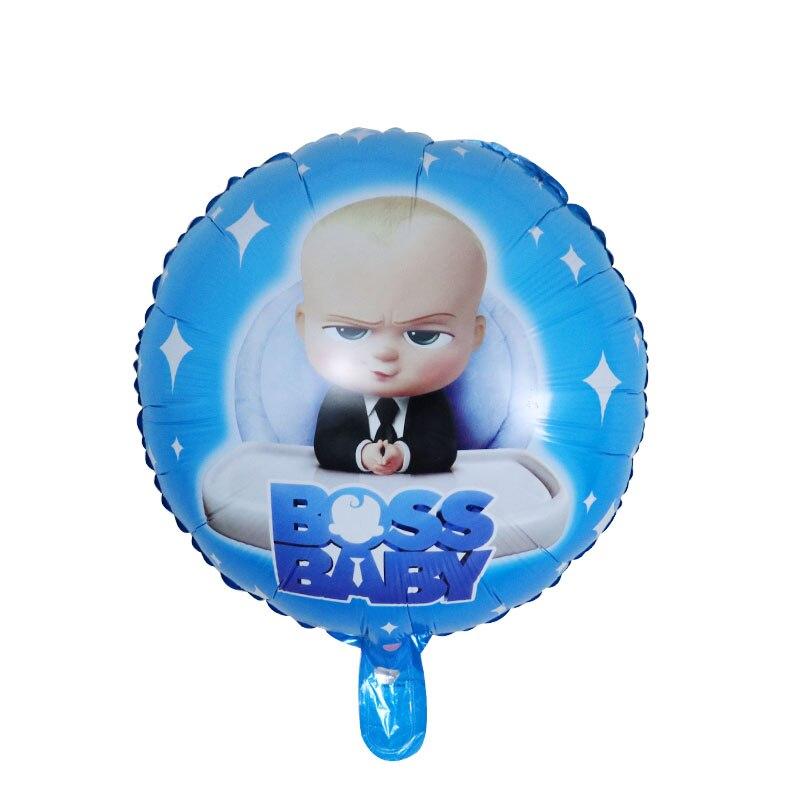 بالون كارتون بوس بيبي ، بالونات هيليوم ألمنيوم ، زينة عيد الميلاد الأول للأطفال ، لعبة هواء جلوبوس لاتكس ، 18 بوصة ، 50 قطعة