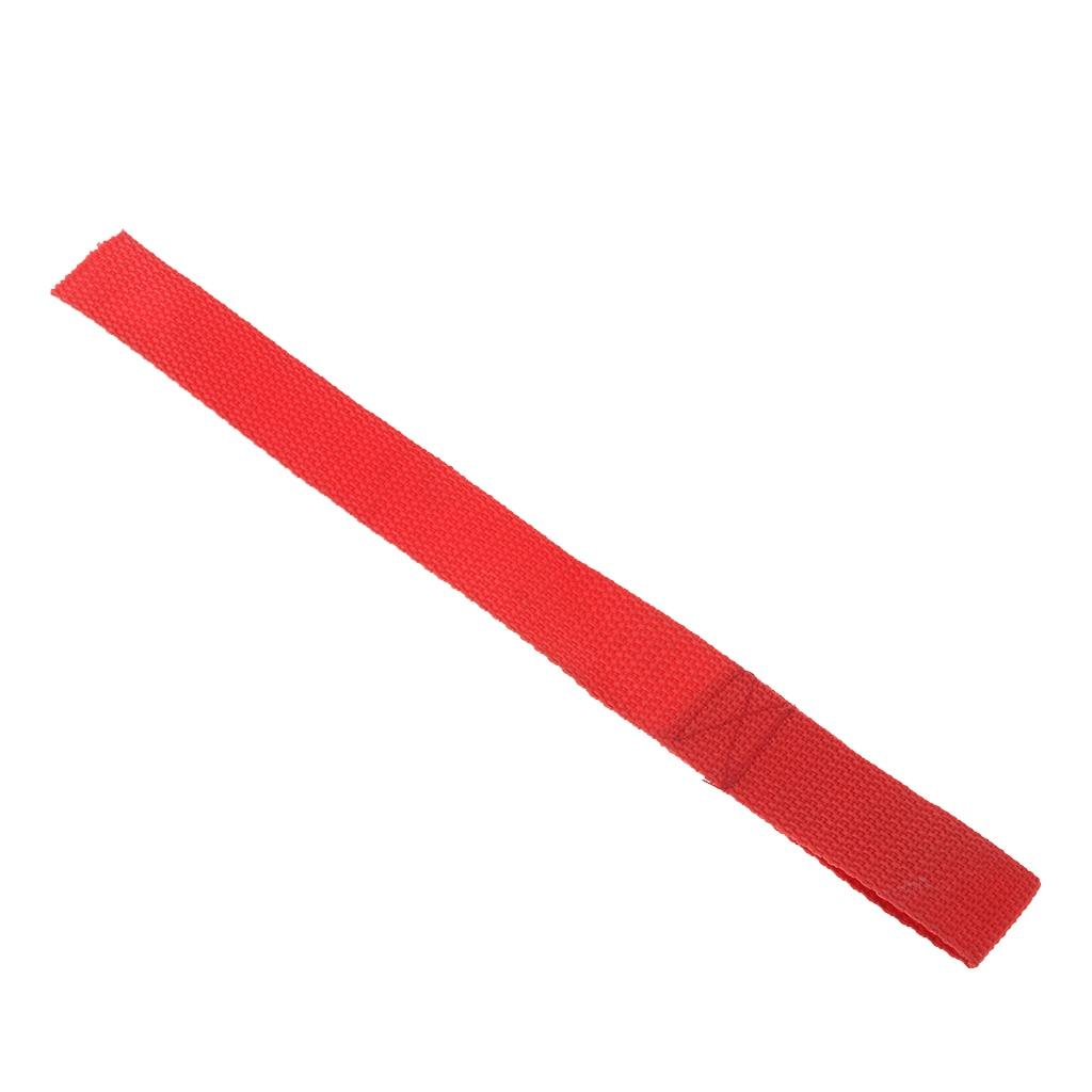 Sangles de serrage à une seule boucle   Crochet de treuil ATV robuste, boucles souples, sangle de traction, outil rouge