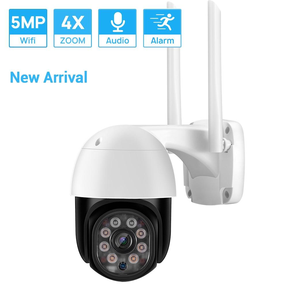 كاميرا مراقبة IP لاسلكية ONVIF ، تتبع تلقائي ، 5 ميجابكسل ، تحريك/إمالة ، Wifi ، كشف بشري ، ia ، تقريب رقمي 4 × ، مقاوم للماء ، ICSEE H.265