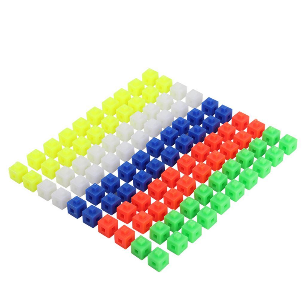 100 шт. многозвеньевые соединительные кубики математические искусственные игрушки для укладки
