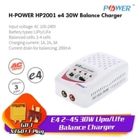 h power e4 2 4s lipolife rc balance charger 1 3a 30w 100 240v input txt60 plug for rc helicopter car quadcopter