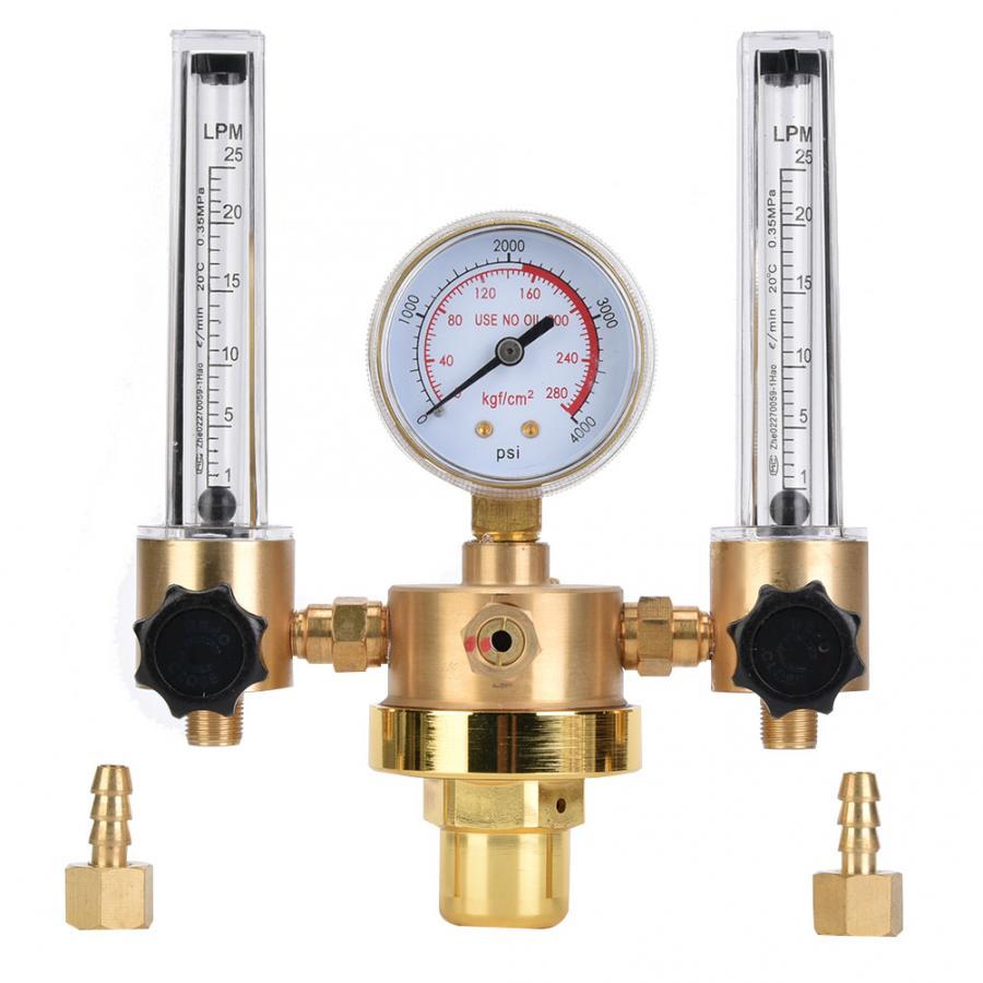 WX-562-5 المزدوج أنبوب الأرجون منظم مقياس الجريان الغاز مخفض الضغط G5/8 CGA580 لحام منظم الغاز