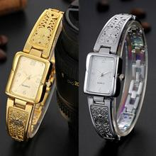 Lady's Square Case Stainless Steel Band Analog Quartz Bracelet Wrist Watch Wholesale Dropshipping Re