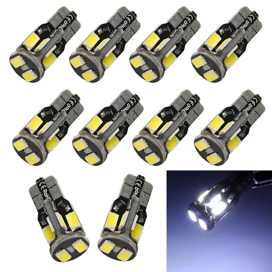 Девять спираль цветок Автомобильный светодиодный светильник T10 5730 10smd Ширина лампа T10 10 светильник светодиодный автомобильный светильник