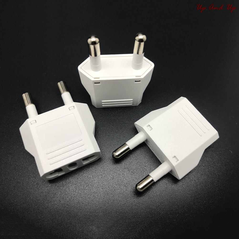 Дорожный адаптер питания для США (США) в ЕС (Европу), конвертер для США, белый зарядный адаптер, конвертер