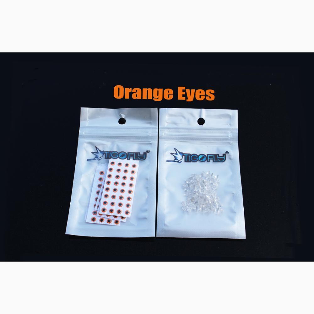 Купить с кэшбэком Tigofly 40 pcs/lot 2 colors 3 sizes 3D Realistic Plastic Barbell Eyes DIY Dumbbell fish eyes Fly Tying Materials