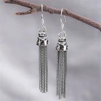 buyee 100 925 sterling silver long earrings ethnic noble style long tassels earring for women party wedding trendy fine jewelry