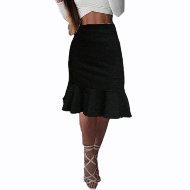 Фото - Женская юбка-годе до колена, с оборками missoni юбка до колена