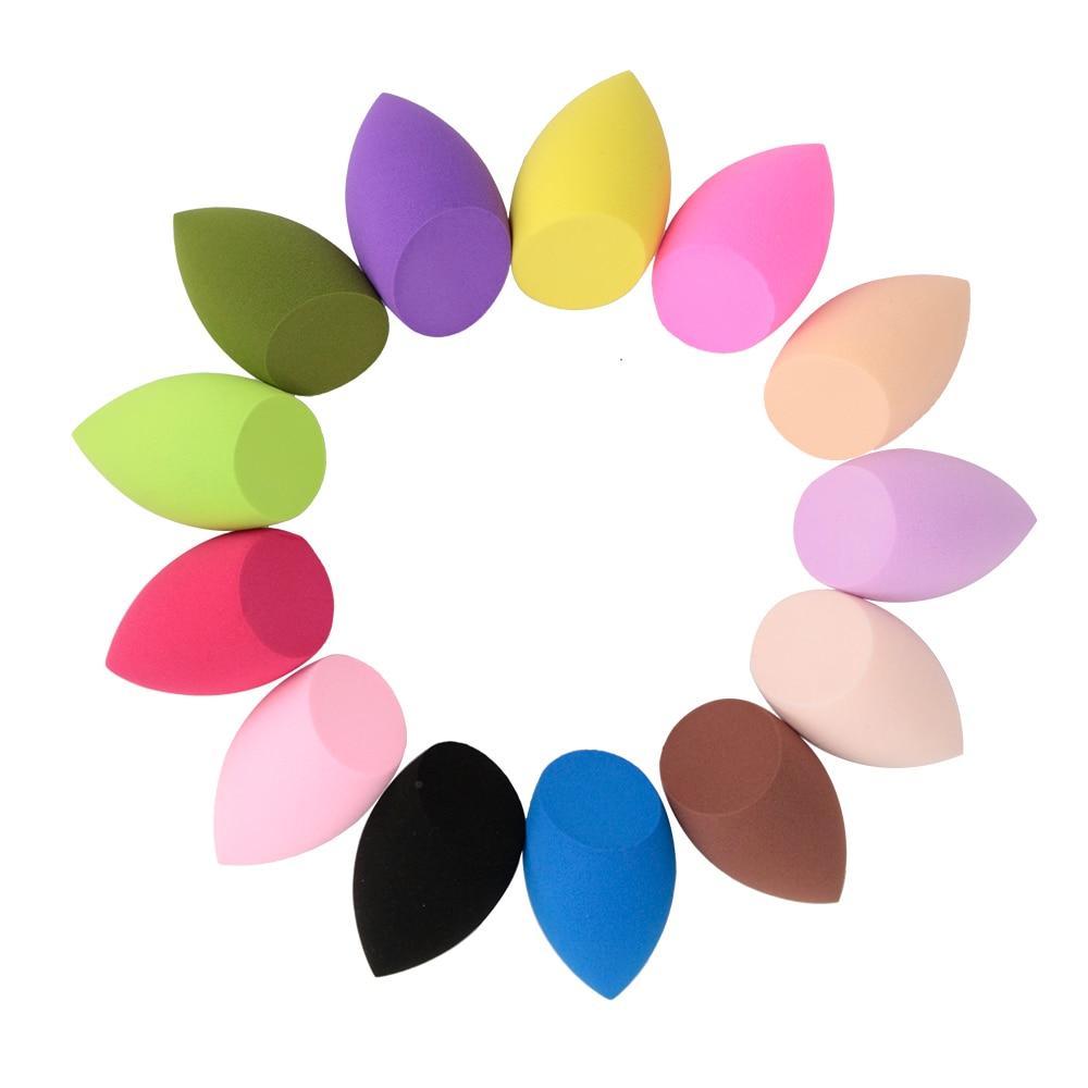1 pçs ferramenta de beleza azeitona corte tamanho grande super macio maquiagem esponjas fundação facial compõem esponja látex livre cosméticos puffs