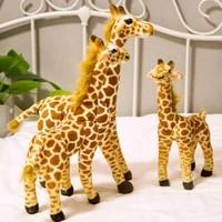 new cute real life giraffe plush toys for children simulation deer animal stuffed doll kids birthday gift lovely home decor