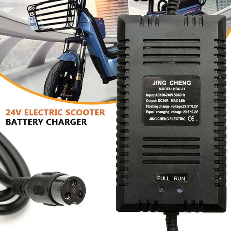 Vehemo Scooter Charger Adapter 24V/1.6A UK Plug Automatic Battery Charger Power Supply Razor E90 E100 E125 E150 E200 E300 E500