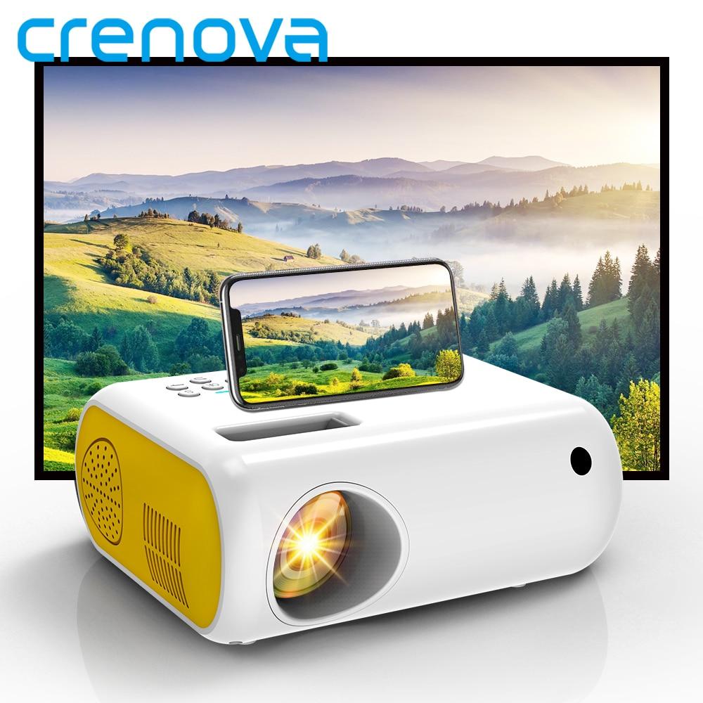 CRENOVA-miniproyector LED portátil para cine en vídeo doméstico, 1080P, Full HD, 3D,...