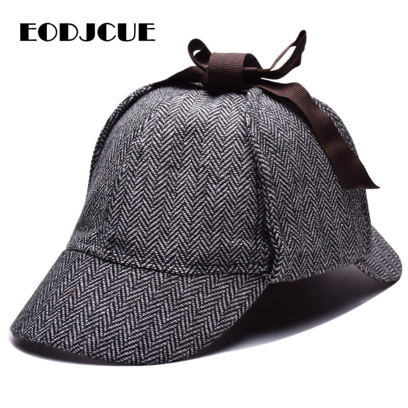 Sherlock Holmes Detective Beret Hat Unisex Cosplay Accessories berets Men Women Two Brims hat peaky