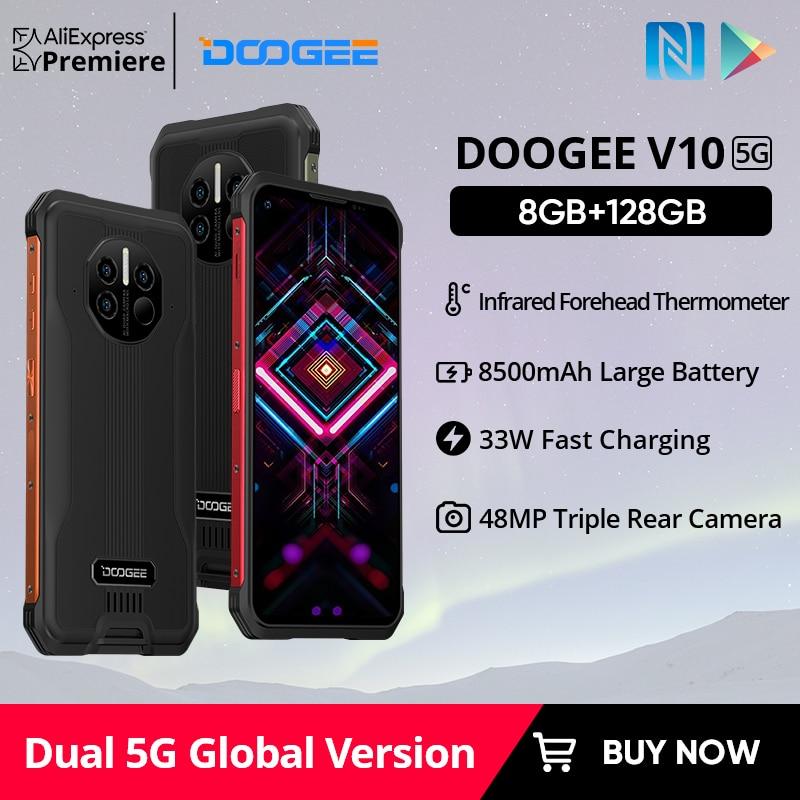 DOOGEE V10 Dual 5G نسخة عالمية جوّال المهامّ الوعرة 8500mAh بطارية 48MP كاميرا خلفية 6.39