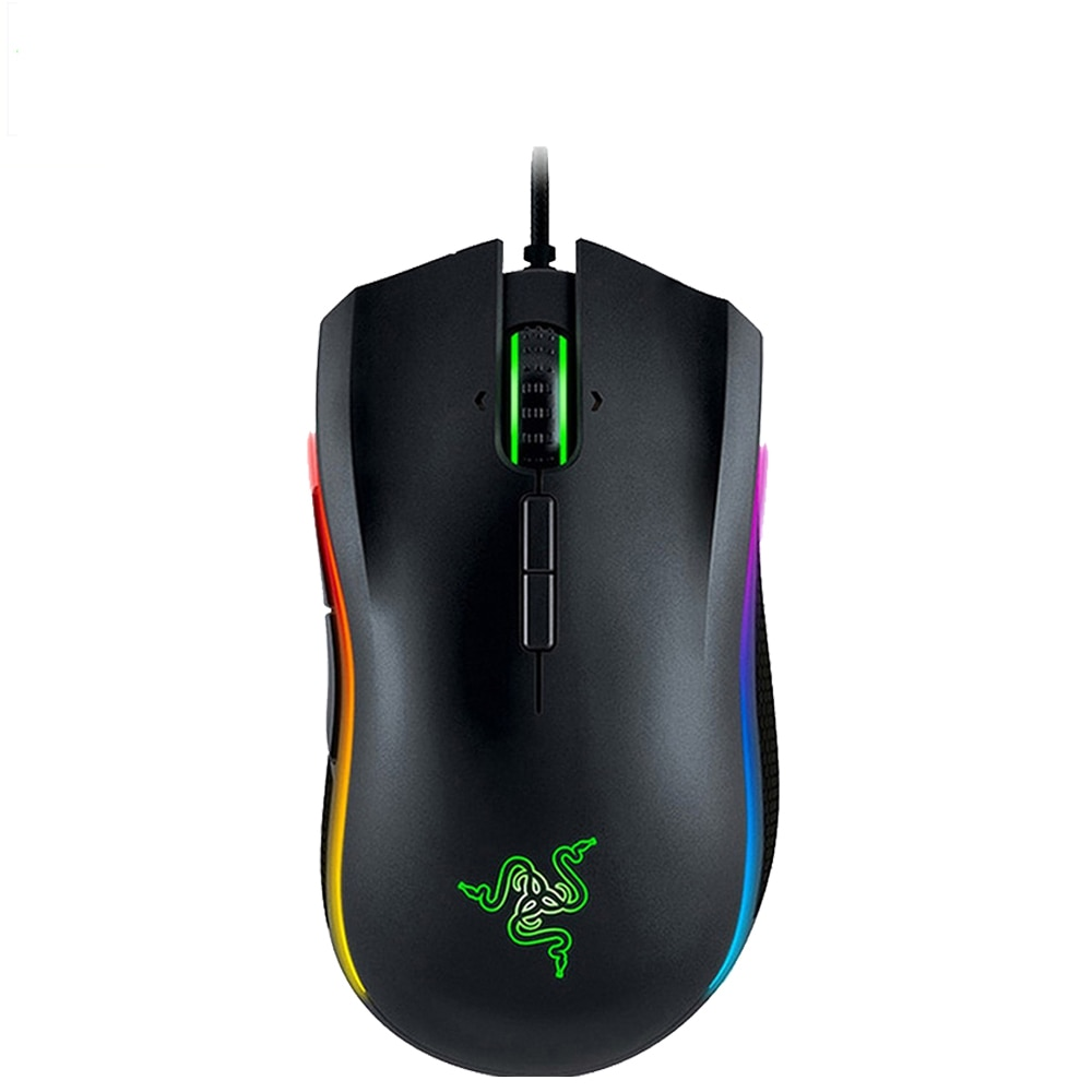 Nuevo Razer Mamba Elite juegos por cable de ratón 16000 DPI 5G Sensor óptico de croma luz ergonómico ratón de juegos para PC Gamer portátil