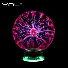 Nowość magiczna plazma lampa kula lampa elektryczna noc światła 3 4 5 6 Cal lampy stołowe kula prezent bożonarodzeniowy dla dzieci szkło lampa plazmowa