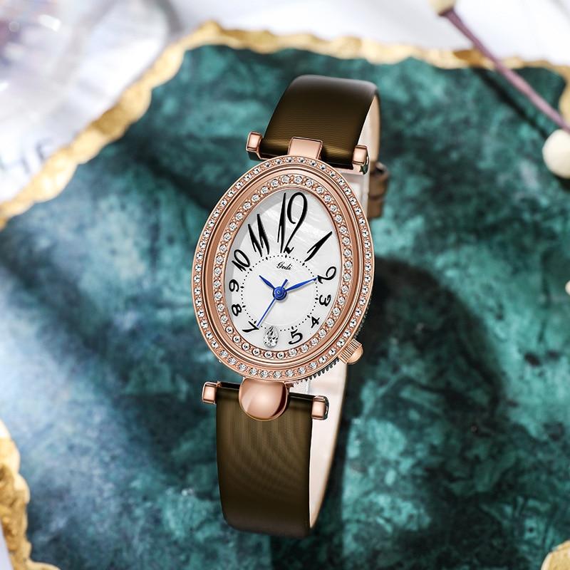 Unique Stylish Casual Watches Women Korean Fashion Ulzzang Top Brand Genuine Leather Ladies Watch Business Party Quartz Clock enlarge