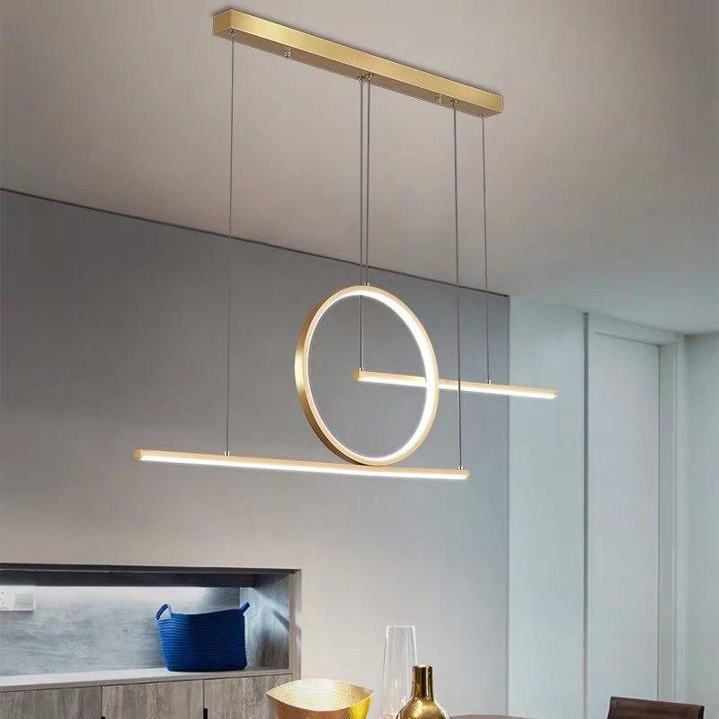 Светодиодный ные подвесные светильники, энергосберегающие люстры из сплава в скандинавском стиле для ресторана, Современные Простые декор...