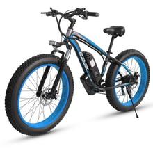 Vélo électrique de montagne 48V 26 gros pneu 1000W moteur puissant haute qualité plage neige Ebike alliage daluminium vélo vente chaude