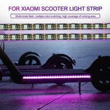 2 uds. Luz LED banda chasis lámpara accesorio impermeable para Xiaomi M365 Scooter JA55